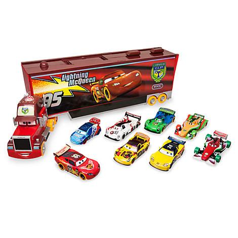 Подарочный набор фургон Мак говорящий с железными машинками Тачки Дисней / Carnival Mack Carrier Set Disney