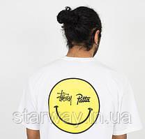 Футболка стильная Stussy patta smile logo