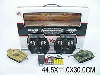 Радио управляемый Танки металл для боев, 2 шт, на аккумуляторе звук светится 8 каналов, в коробке 44х11х30