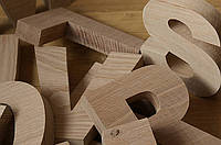 Буквы из дерева