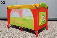 Детская кровать манеж Milly Mally Mirage khaki cow  Польша