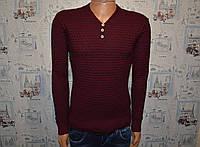 Мужской свитер бордовый Турция 5028