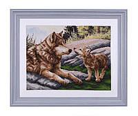 """Набор для вышивания бисером """"Волчица и волчонок"""""""