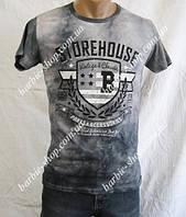 Красивая серая мужская футболка 5244