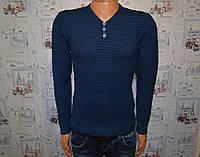 Мужской свитер синий Турция 5027