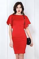 Сукня рукав сонце коротка червона