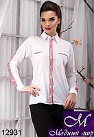 Классическая женская блуза в красную полоску (р. S, M, L, XL) арт.12931