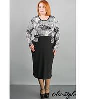 Женское батальное платье Шерри ажур ТМ Olis-Style 54-64 размеры
