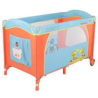 Детский манеж-кровать с пеленатором и дугой Quatro Lulu 2