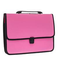 """Портфель пластиковый """"Economix"""" на застежке, розовый E31641-09"""