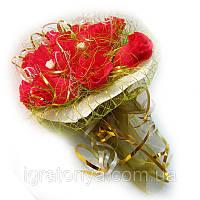 Букет из конфет Красные розы, фото 1