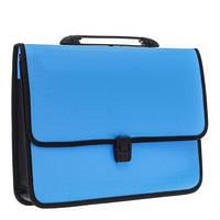 """Портфель пластиковый """"Economix"""" на застежке, голубой E31641-02"""
