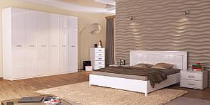Белла кровать 160 профиль с каркасом белый глянец