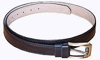 Ремень кожаный брючный с подкладом Медан 1501 (ширина 3,5 см)