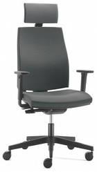 Офисное кресло с подголовником JOB (black)