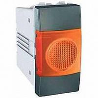 Индикатор 1 модуль Schneider Electric Unica индикация Оранжевая цвет Графит MGU3.775.12A