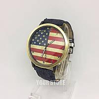 Женские наручные часы с флагом Америки