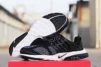 Кроссовки Nike Air Presto черно белые 1807
