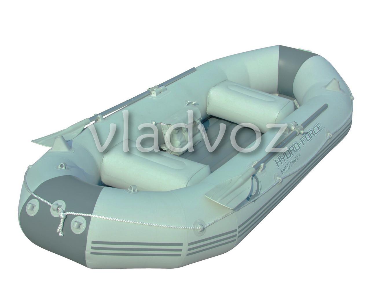 Лодка надувная с веслами и насосом двухместная Marine Pro 65044