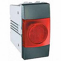 Индикатор 1 модуль Schneider Electric Unica индикация Красная цвет Графит MGU3.775.12R
