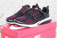 Кроссовки Nike Air Presto черные с красным 1806
