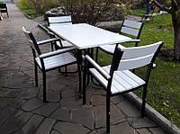 """Комплект мебели для кафе Микс-Лайн """"Стелла"""" Белый цвет заказчика, черный"""