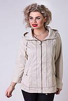 Куртка ветровка из хлопка  с капюшоном Janika №5028.