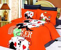 Комплект постельного белья  le vele сатин размер евро Poker