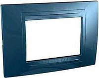Внешняя рамка трехмодульная Schneider Unica Allegro MGU4.103.54 Голубой лёд