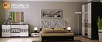 Терра кровать 160 подъемная с каркасом глянец белый-черный мат