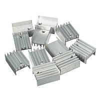Радиатор алюминиевый для TO-220 (25x15x10mm) серебристый