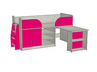 """Кровать-чердак  с рабочей зоной """"Кузя"""" со спальным местом 1700х800"""