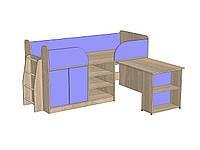 """Кровать-чердак  """"Кузя"""" со спальным местом 1600х800"""