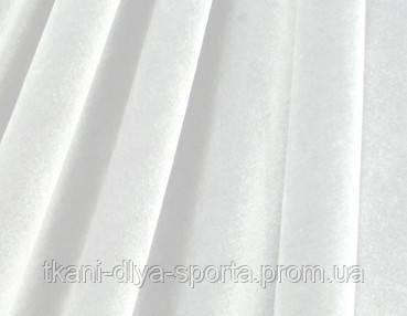Стрейч-бархат гладкий белый