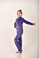 Спортивный  светло-фиолетовый велюровый костюм