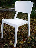 Стул пластиковый Орли белый для открытых площадок