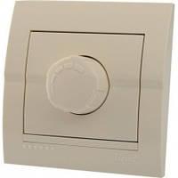 Светорегулятор с фильтром и предохранителем Lezard Deriy 500 Вт кремовый