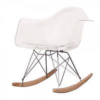 Кресло качалка с буковыми полозьями Тауэр R прозрачное, Реплика на кресло-качалку Eames RAR Style
