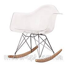 Кресло качалка с буковыми полозьями Тауэр R прозрачное, Реплика на кресло-качалку Eames RAR Style, фото 2