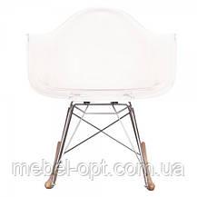 Кресло качалка с буковыми полозьями Тауэр R прозрачное, Реплика на кресло-качалку Eames RAR Style, фото 3