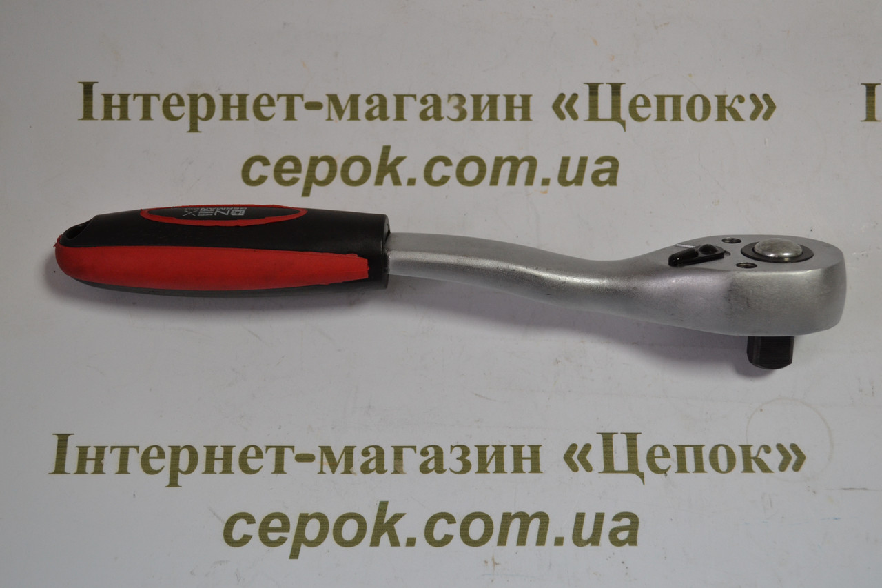 Ключ-трещотка с реверсом 1/2, 90 зуб HAISSER, профі