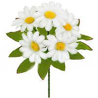 Букет искусственных цветов Ромашка белая бордюр , 20 см