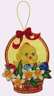 Набор для шитья игрушки из фетра Пасхальная корзинка