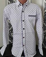 Стильная стрейчевая рубашка для мальчика 6-14 лет (белая 1702) (пр. Турция)