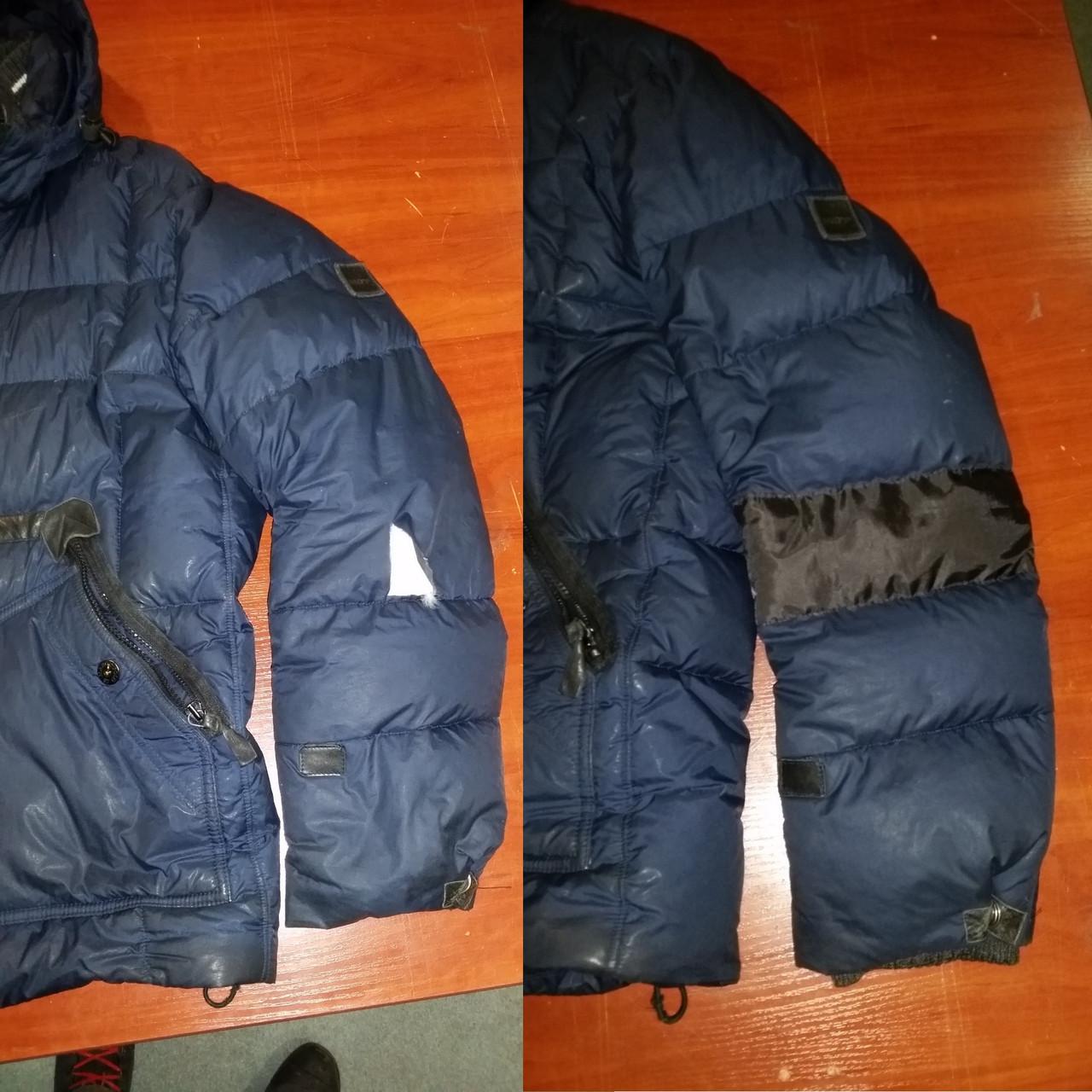 Зашить порыв на куртке