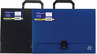 Портфель пластиковий синій на 1 відділення А4, 329х232х35, Buromax