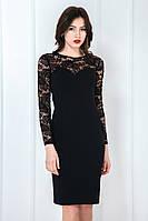 Сукня декольте мереживо гіпюр чорна