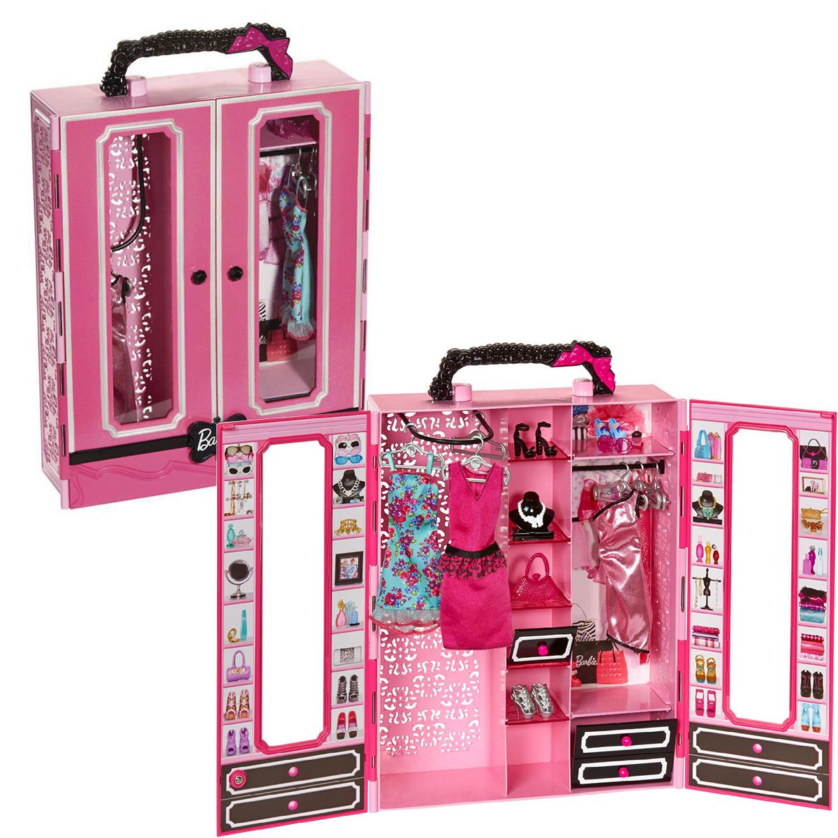 Barbie Style Набор шкаф-чемодан  (модний гардероб з аксесуарами для Барбі)