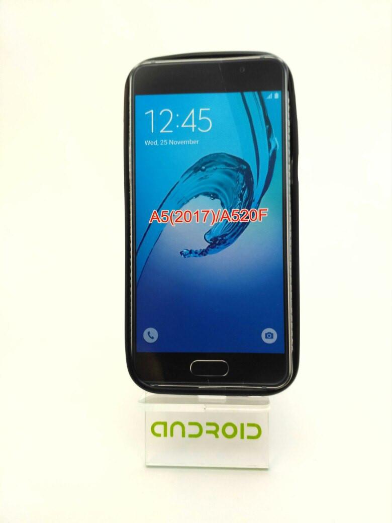 Чехол на Samsung A5(2017)/A520 черный силиконовый защитный чехол для смартфона.