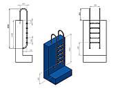 Лестница для бассейна (купели) Muro 5 ступеней